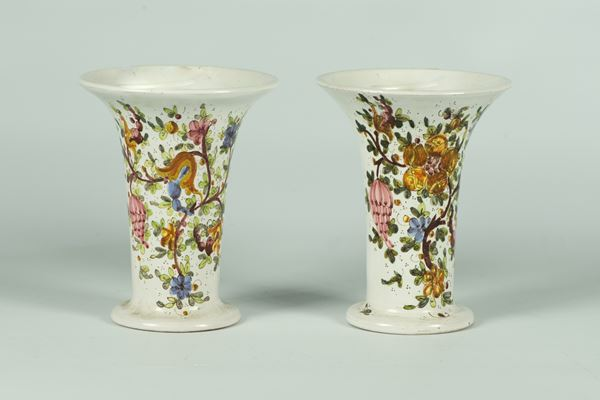 Pair of Gubbio glazed ceramic jars, C.A.M. Manufacture