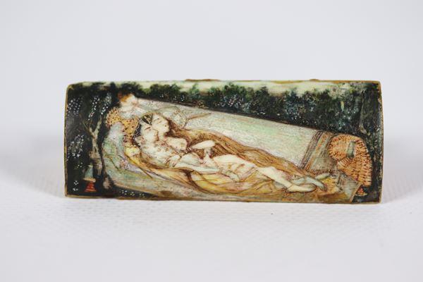 Oriental plate in ivory