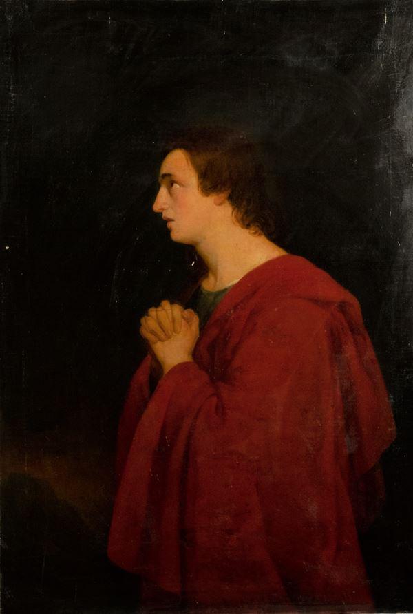 """Pittore Italiano XVIII Secolo - """"The devotion of the Saint"""""""