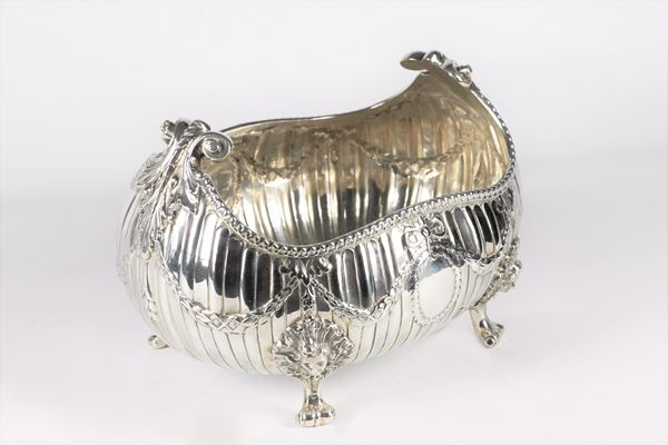 Silver centerpiece from the Queen Victoria era
