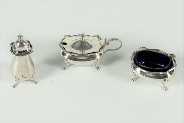 Set da tavola in argento Epoca Edoardo VII