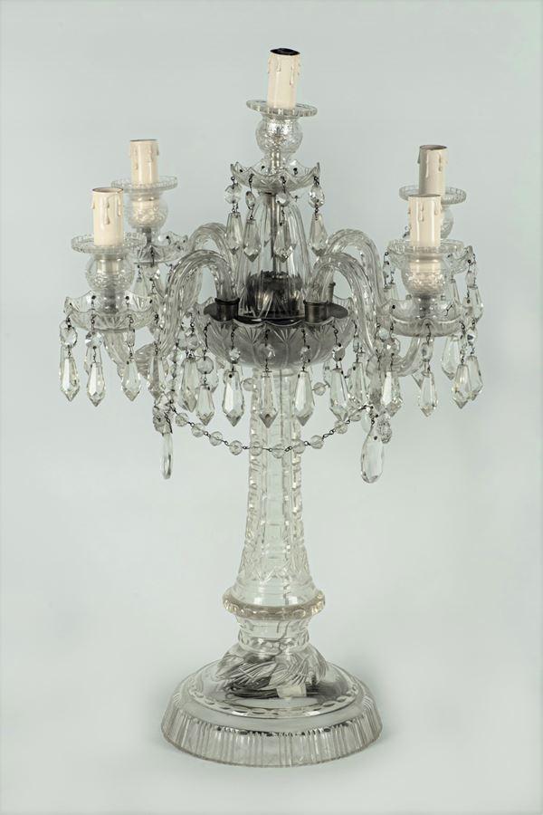 Bohemian crystal candelabra