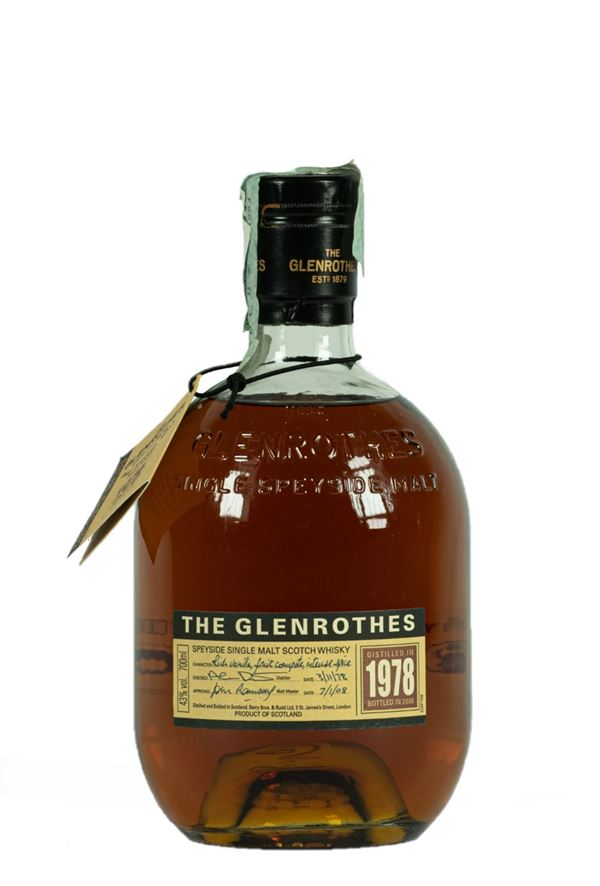 The GLENROTHES Scotch Whiskey bottle