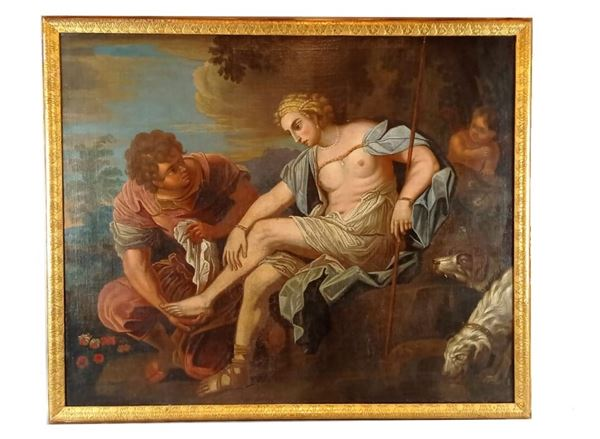 """Maestro Italia Centrale Fine XVII - Inizio XVIII Secolo - """"Il riposo di Diana cacciatrice"""""""