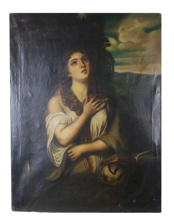 """Scuola Italiana Inizio del XVIII Secolo - """"Maddalena"""""""