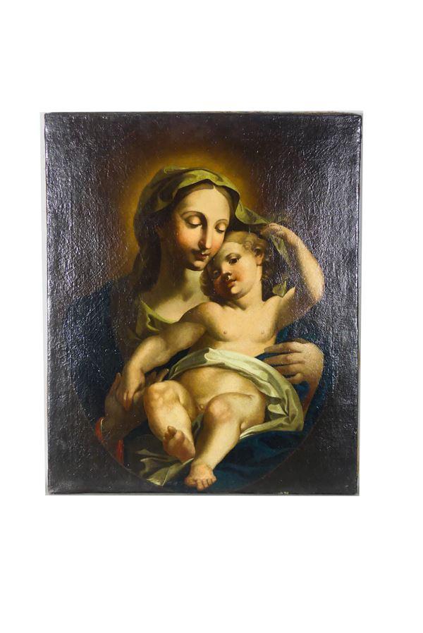 """Maestro Napoletano XVII Secolo - """"Madonna with Child"""""""