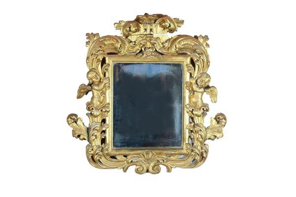Tuscan Louis XV mirror in gilded wood