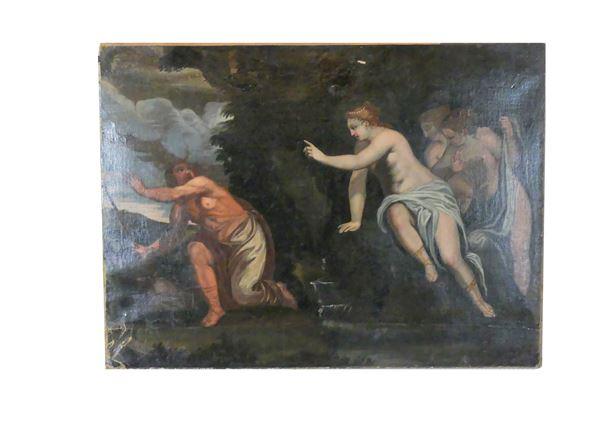 """Pittore Emiliano XVII Secolo - """"Diana e Atteone"""""""