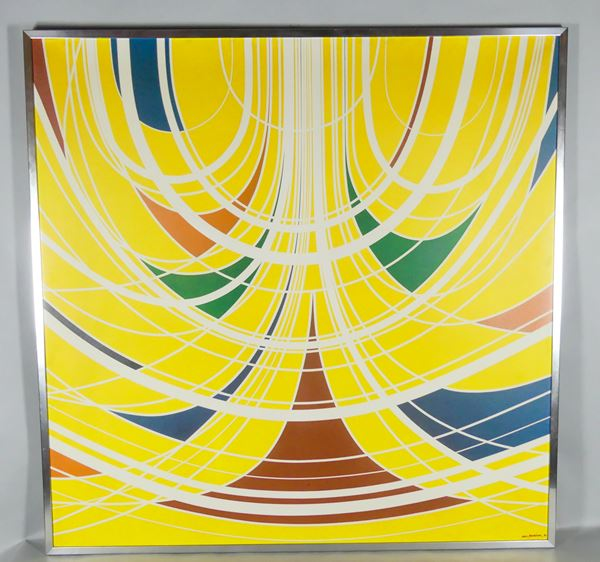 """Aldo Moriconi - """"Riemman"""". Signed and dated 1970, oil painting on canvas"""