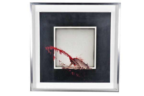 """Emilio Scanavino - """"La finestra"""". Firmato e datato 1974."""