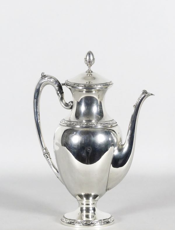 Coffee maker in chiseled silver Gr. 460
