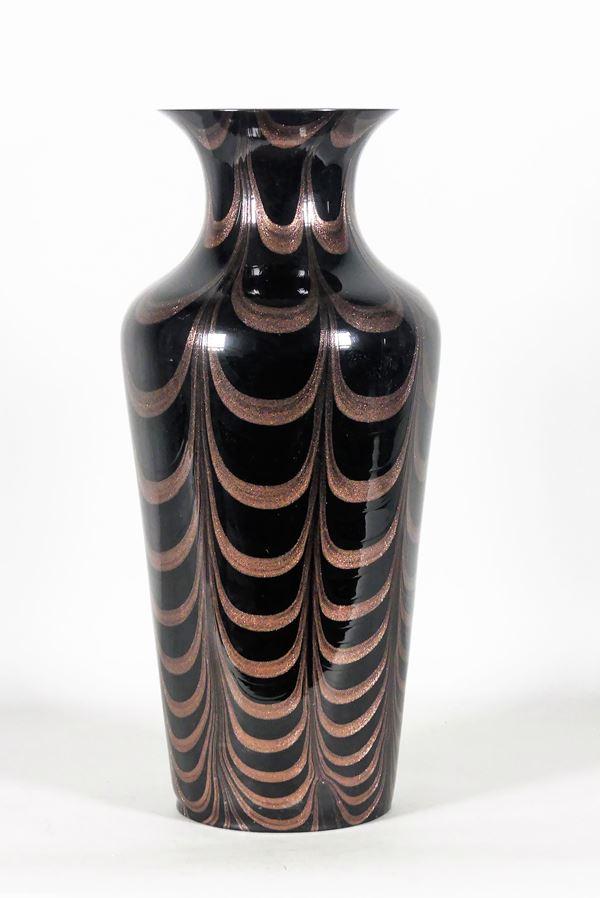 Vaso in vetro soffiato di Murano