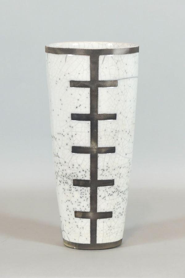 1960s vase in ceramic with geometric designs