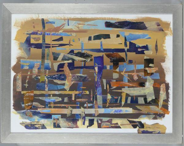 """Arte Contemporanea - """"Abstract Composition"""". Signed."""