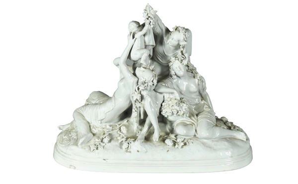 "Ginori white porcelain group ""Allegorical - mythological scene"""