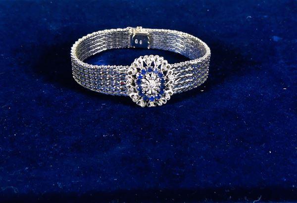 18 Kt white gold women's bracelet. Gr. 55