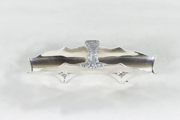 Breadstick holder in silver. 240 grams