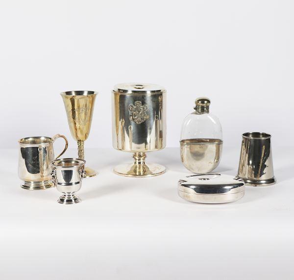 Lot in silver metal (7 pcs)