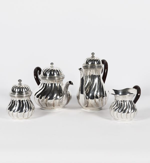 Silver tea and coffee service (4 pcs). 1290g
