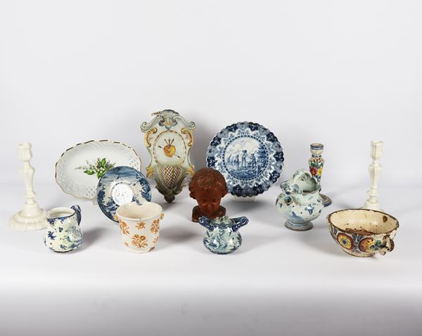Lot in porcelain and ceramic (27 pcs)