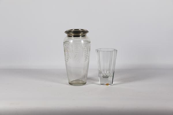 Lotto di Due Vasi in cristallo