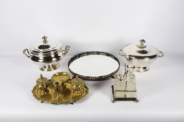 Lot in silver and gold metal (9 pcs)