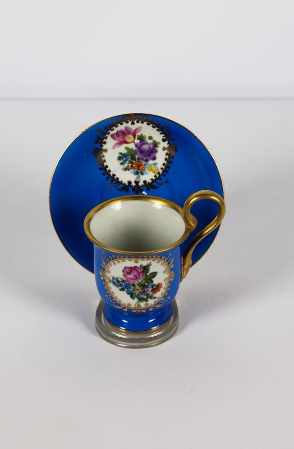 Herend porcelain cup with plate