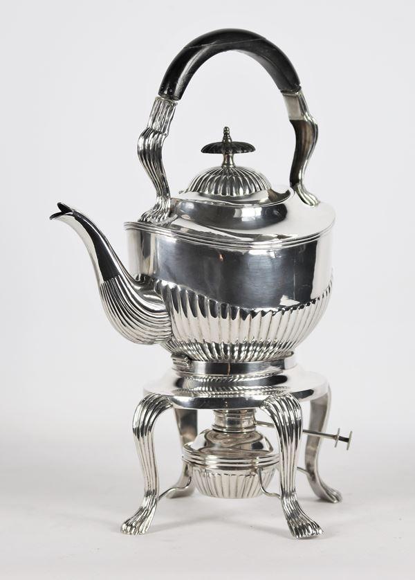 Samovar in argento Sterling Tientsin Yeching con spiritiera gr 1120