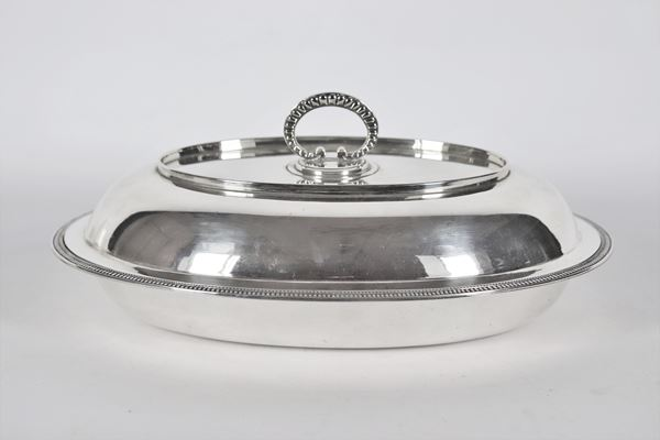 Oval vegetable dish in silver gr 1320