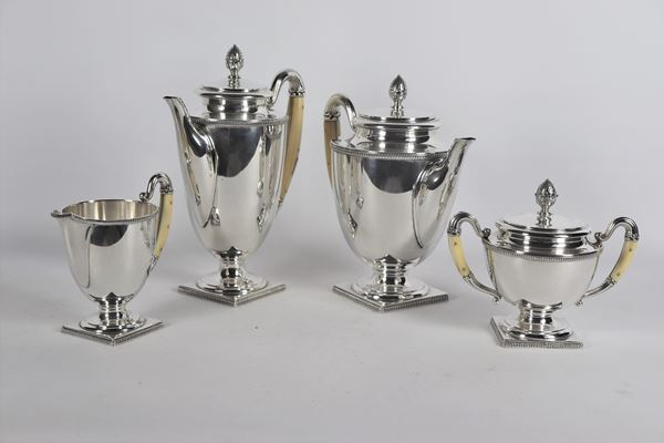 Servizio da tè e caffè in argento (4 pz) gr 2130