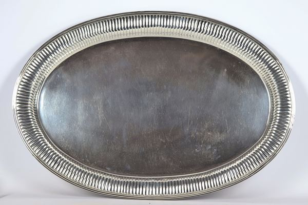 Large oval tray in Sterling Silver Tianjin Yeching gr 4640