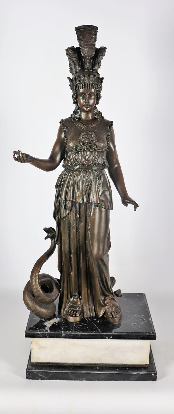 Large bronze sculpture 'Athena'