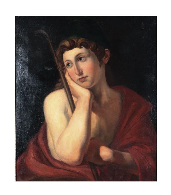 Pittore Neoclassico Inizio XIX Secolo - 'Portrait of a shepherd' painted in oil on canvas