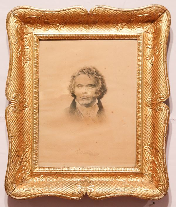 """Antique """"Beethoven"""" engraving"""