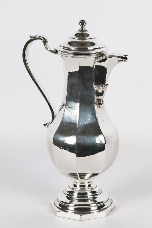 Caffettiera in argento gr 1000