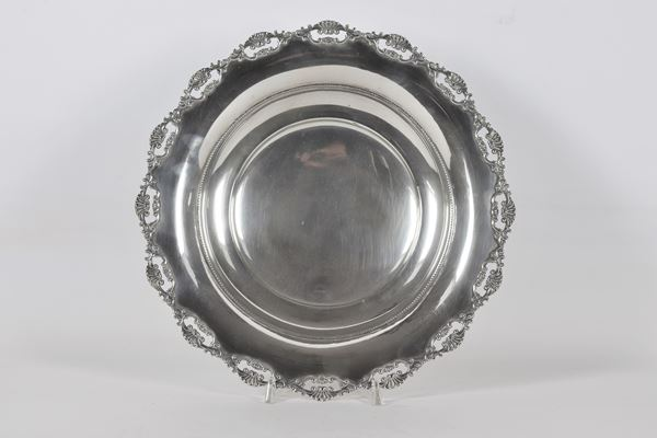 Round fruit bowl in silver gr. 380