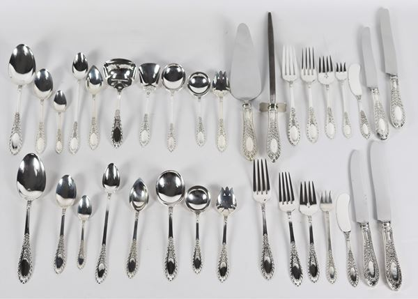 925 Sterling silver cutlery set (95 pcs) 2500 gr