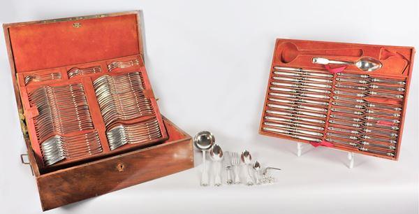 Silver cutlery set (130 pcs) 7640 gr