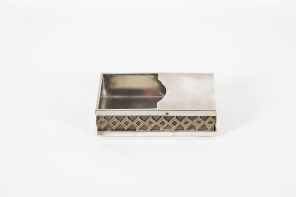 Desk note holder in silver metal Cleto Munari