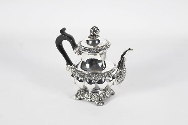 Neapolitan silver coffee maker Argentiere Michele Pane. 320 g
