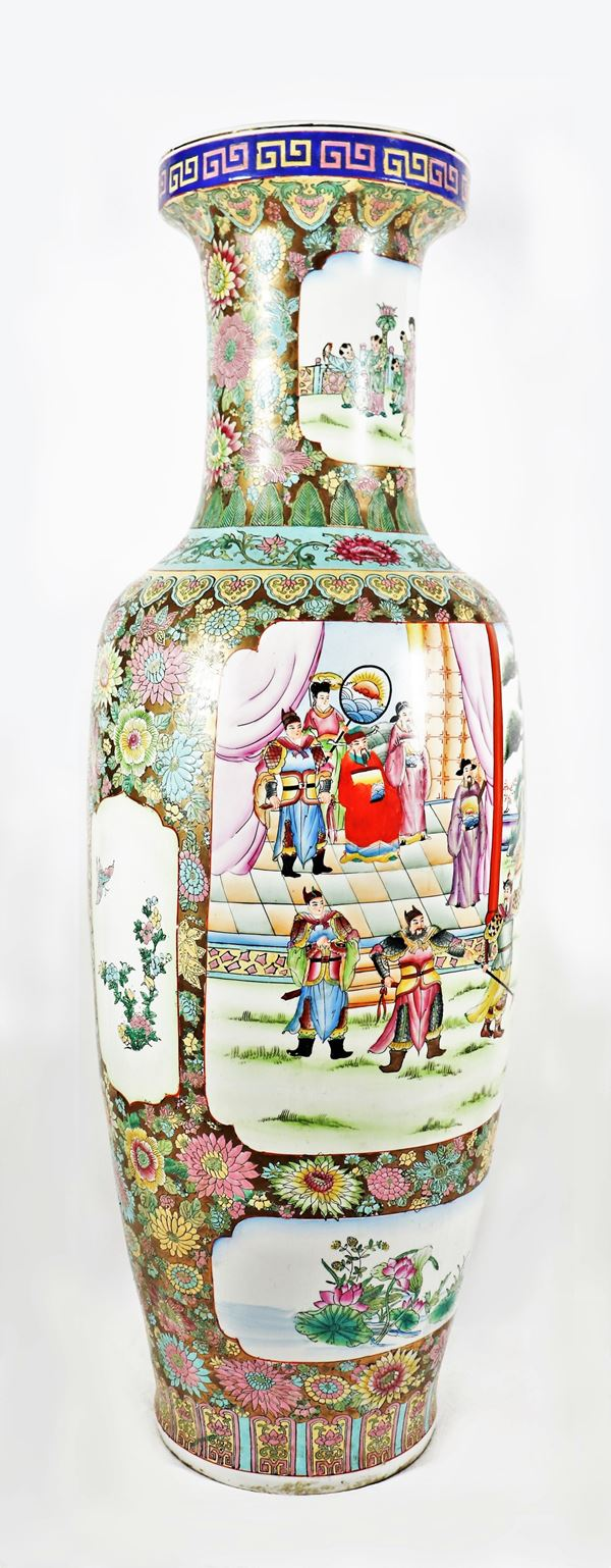 Grande vaso cinese in porcellana
