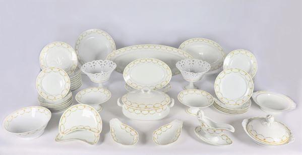 Antique Richard Ginori porcelain dinner service (108 pcs)