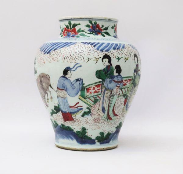 Vaso cinese in porcellana