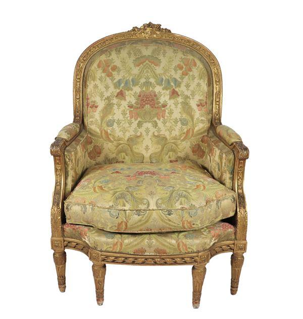 Bergere Luigi XVI in legno dorato