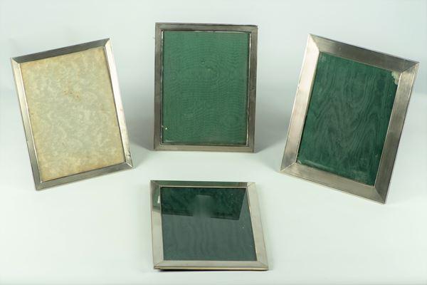 Quattro Cornici portaritratti in argento