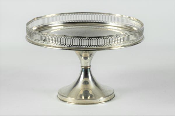 Alzata tonda in argento