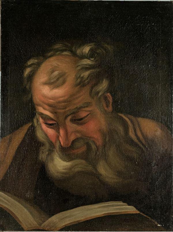"""Pittore Romano Fine XVII Secolo - """"Apostle reading"""""""