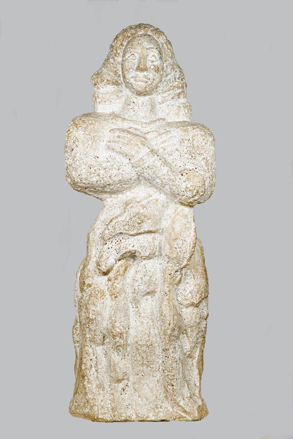 Female stone sculpture