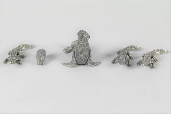 Cinque Animaletti in argento