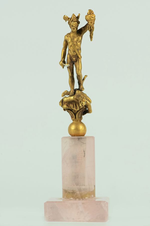 """Gold figurine """"Perseus with the Head of Medusa"""""""